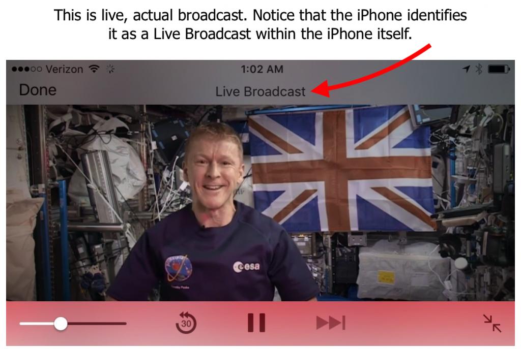 iPhone Live Broadcast Screen Shot
