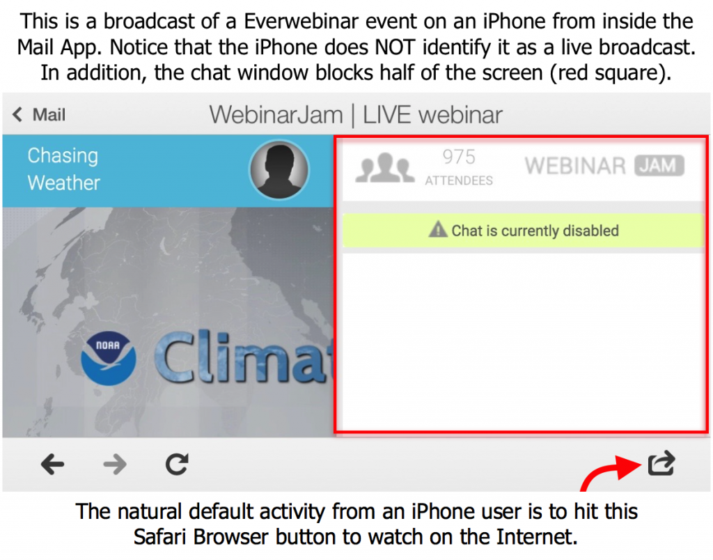 How the Screen Looks on Everwebinar