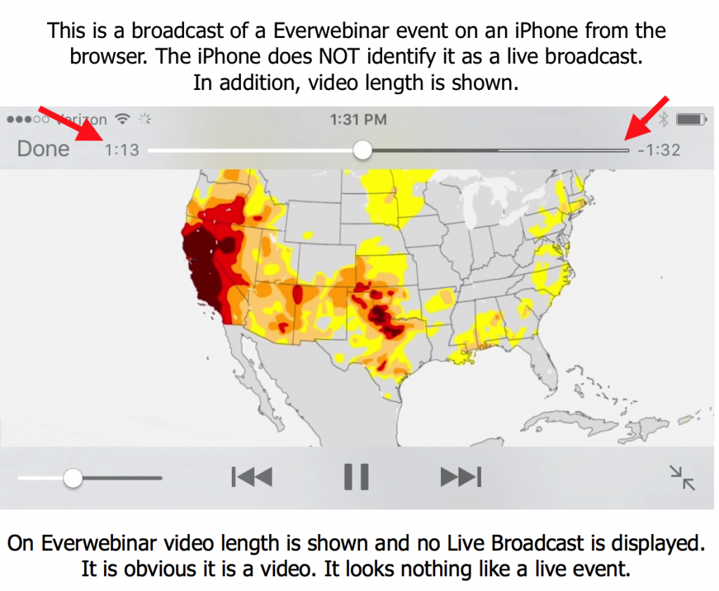 Everwebinar looks fake on iPhone