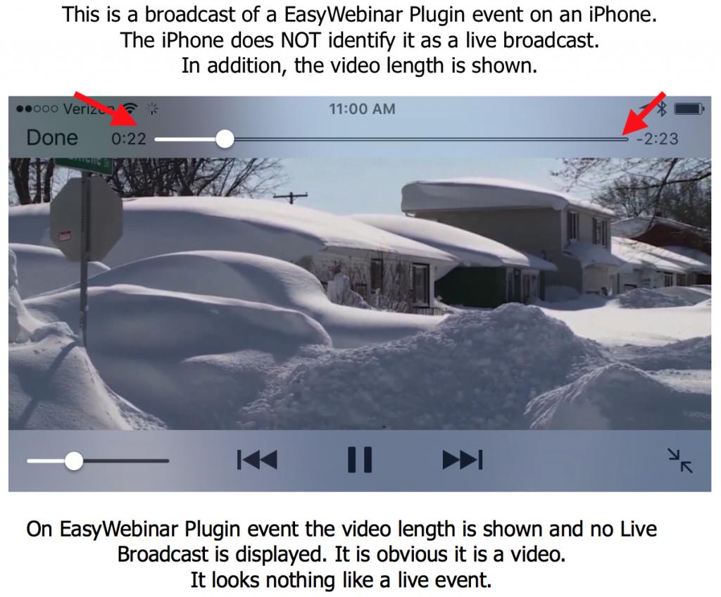 EasyWebinarPlugin Does not work on iphone