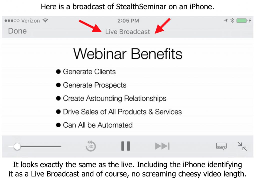 StealthSeminar iPhone Screenshot