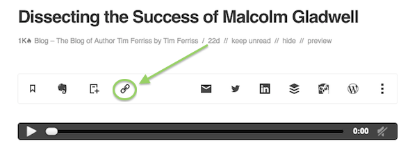 copy link with feedly screenshot
