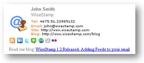 email signature example