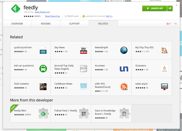 feedly mini app
