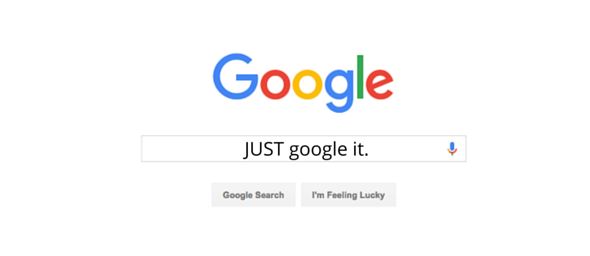 google search with text -just google it-