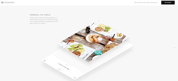 squarespace landing page example