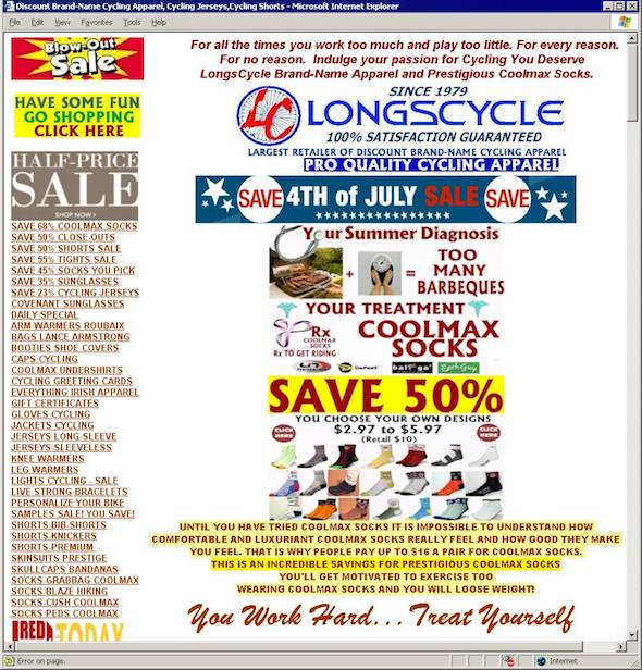 LongCycle example of cluttered
