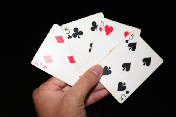 image of 5 playing cards