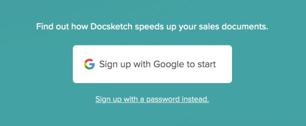 Sign-up DocSketch